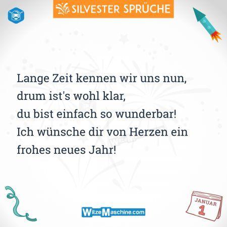 Silvestersprüche - Lustige Silvester Sprüche - Von Herzen ein frohes ...