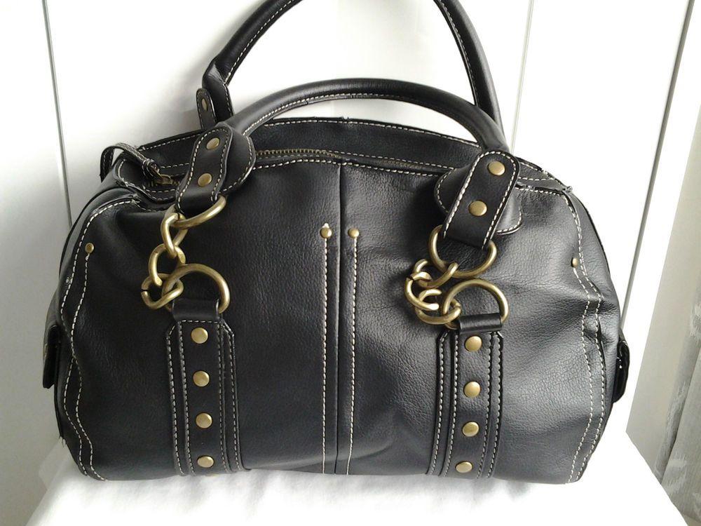 Kookai Black Faux Leather Handbag With