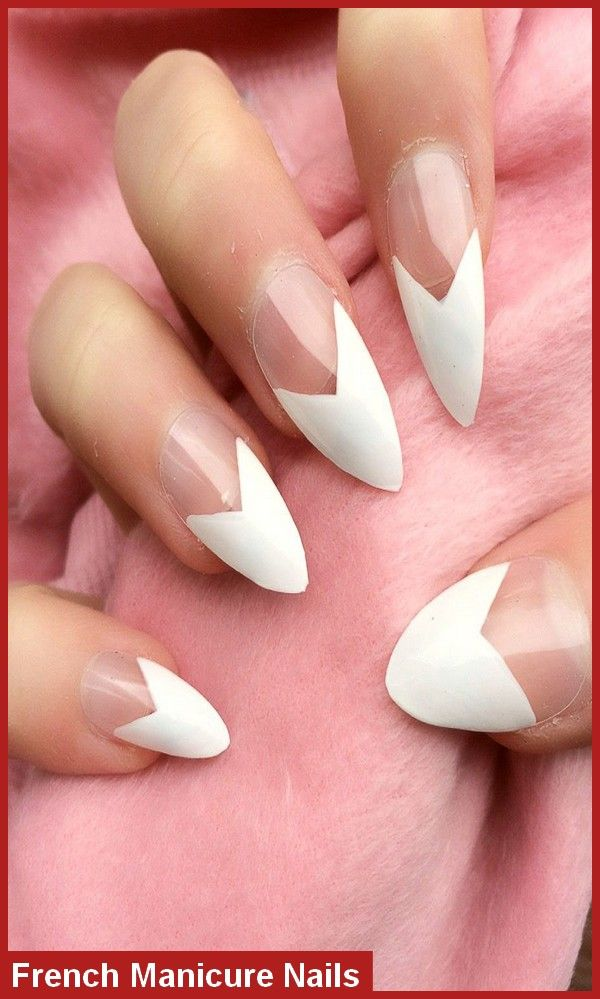 How To Do French Manicure Nails Nail Art At Home Frenchtip