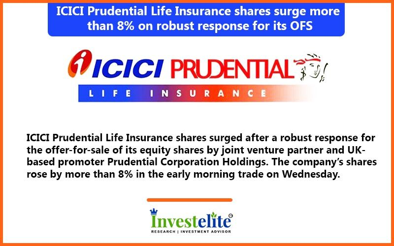 ICICI Prudential Life Insurance shares surge more than 8% ...