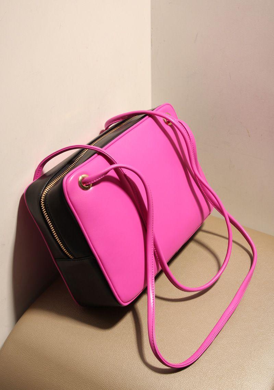 Bolso rosado y negro