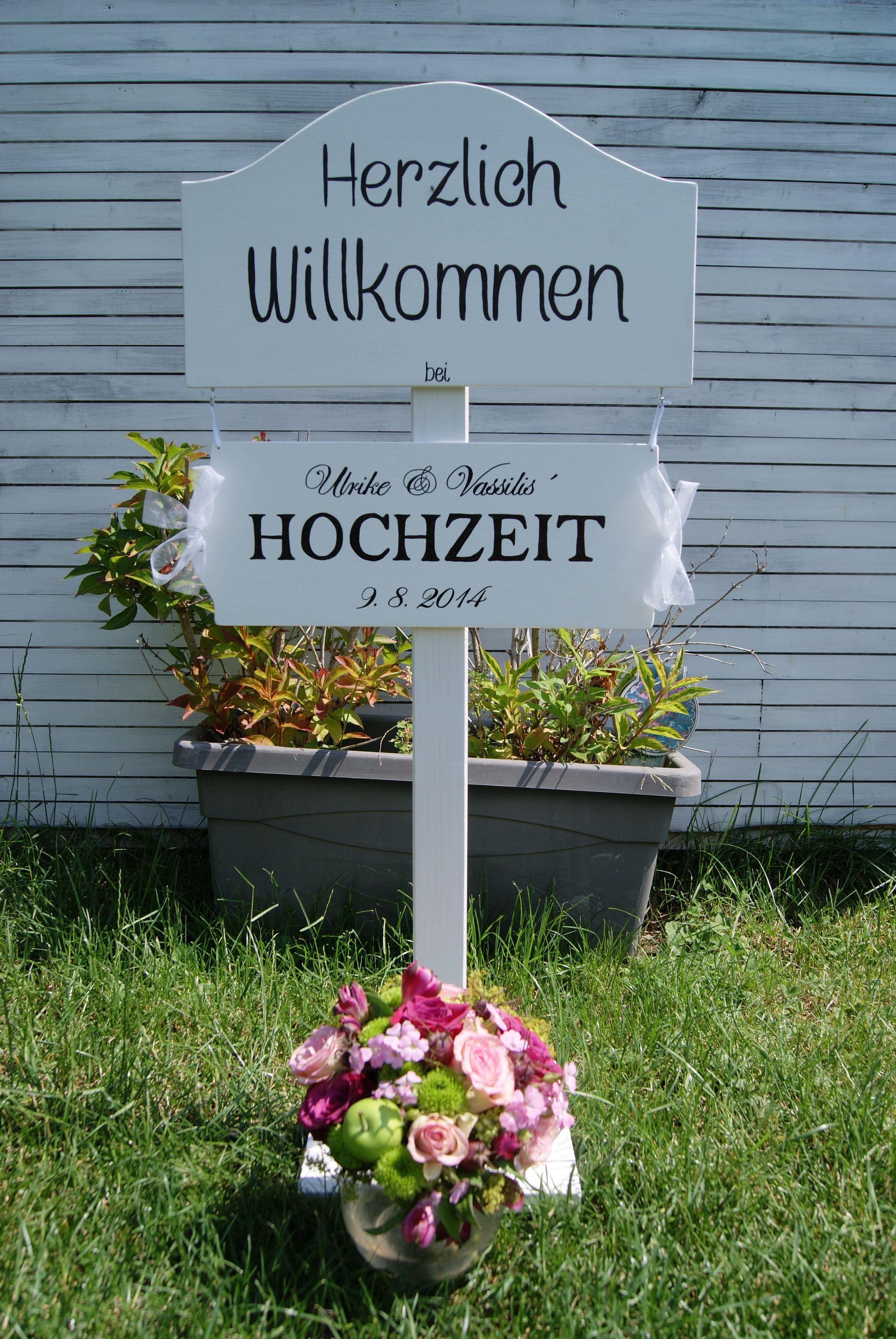 Handgemachter Willkommensständer für Hochzeit....www.meriland.at