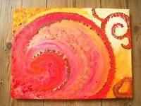 """Acryl Bild Gemälde """"ORIENTAL DREAMS"""" - 30 x 40 x 2 cm"""