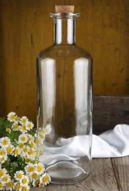 5 99 Sale Price Get Creative With This Clear Glass Bottle With Cork The Bottle Has A Simple