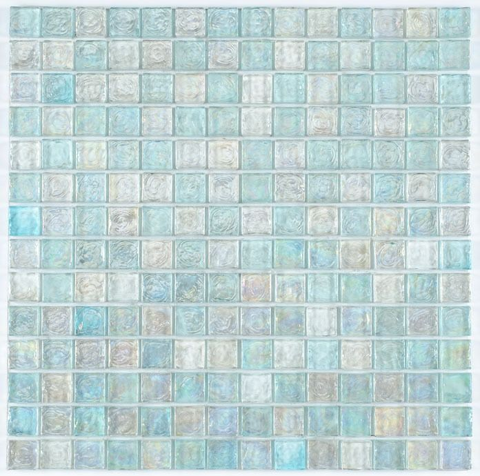 Iridescent Glass Mosaic Tile Clear Blend 1x1 Iridescent Glass Tiles Mosaic Glass Glass Mosaic Tiles