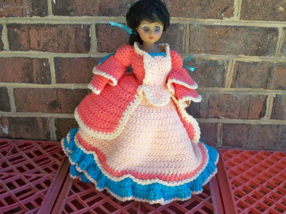 Vintage Doll Handmade Crochet Layered Dress and by eclecticnesting, $12.00