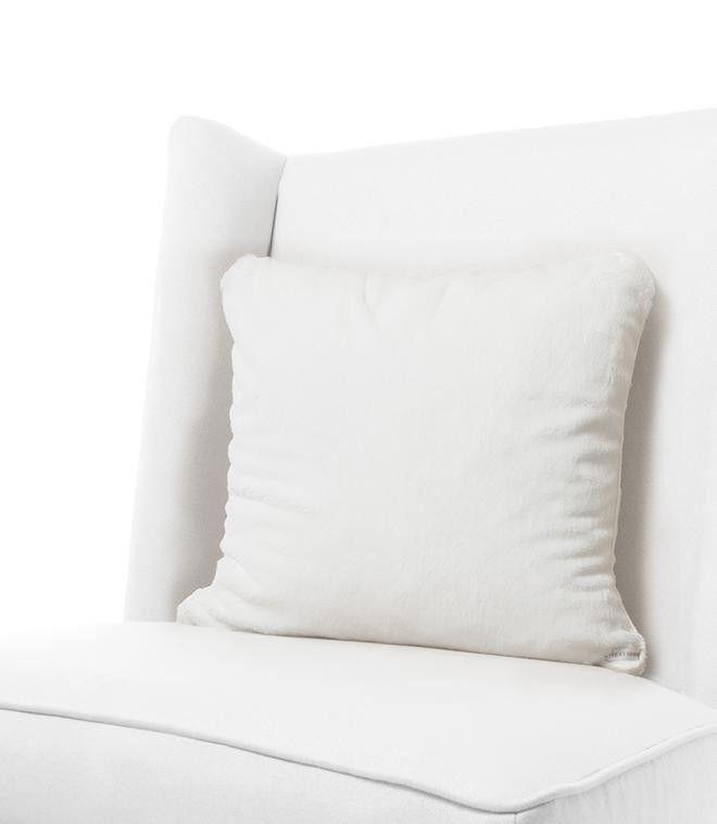 White Luxe Throw Pillow By Little Giraffe Throw Pillows