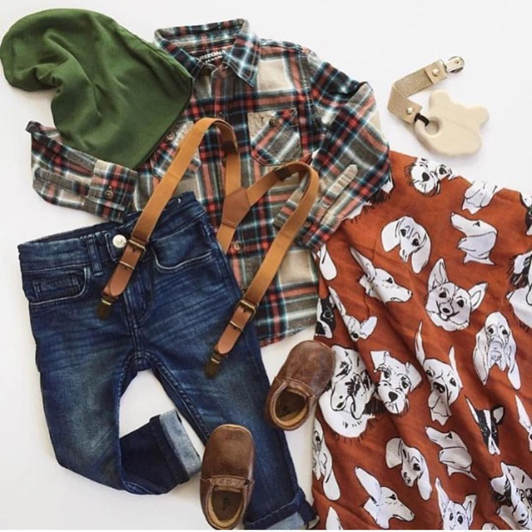 Fall boys outfit, leather suspenders, little boy fashion ...