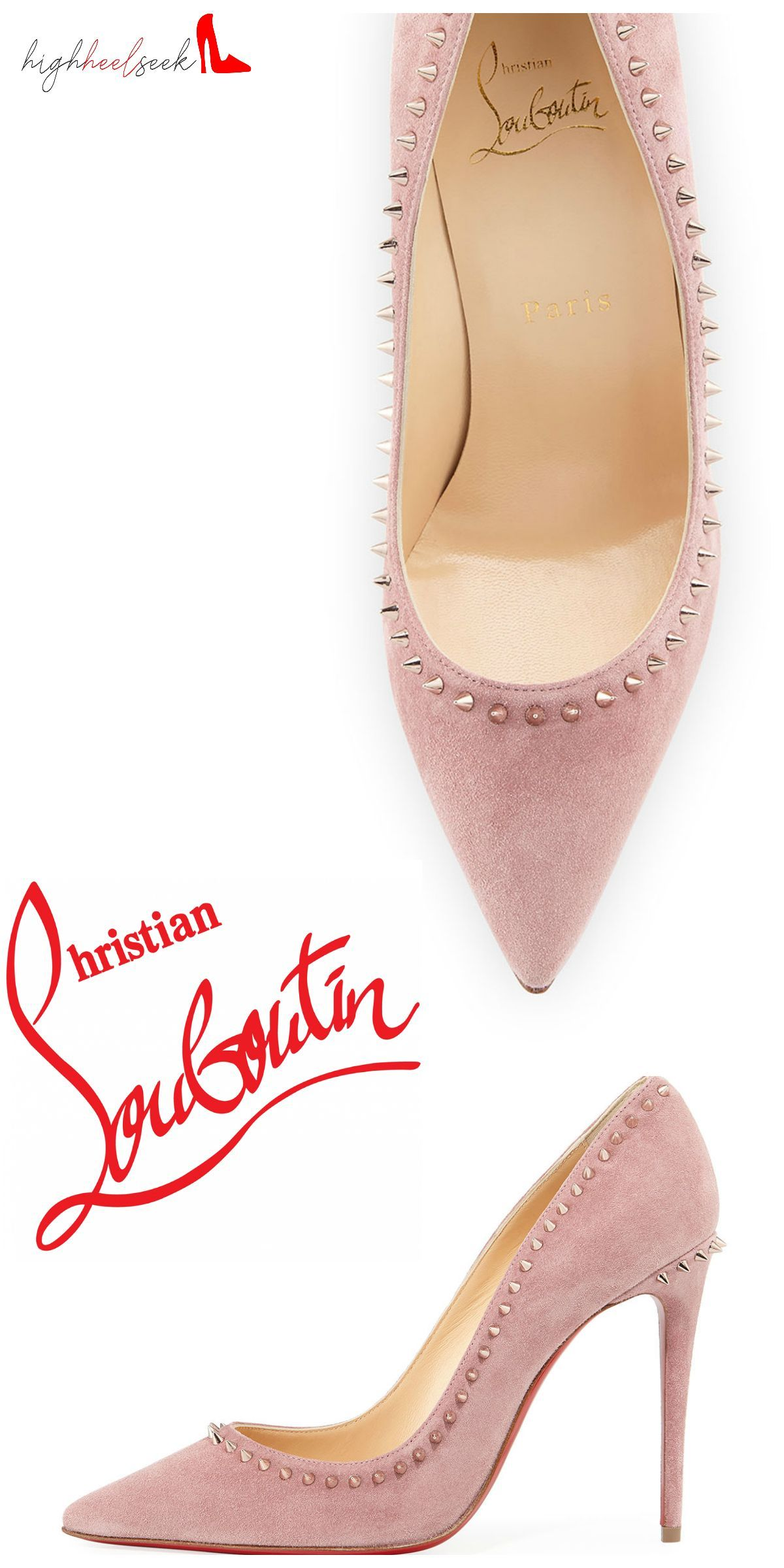 ad5d53c5c860 These Anjalina Spiked Suede Red Sole Pumps by Christian Louboutin are  simply amazing!  ChristianLouboutin