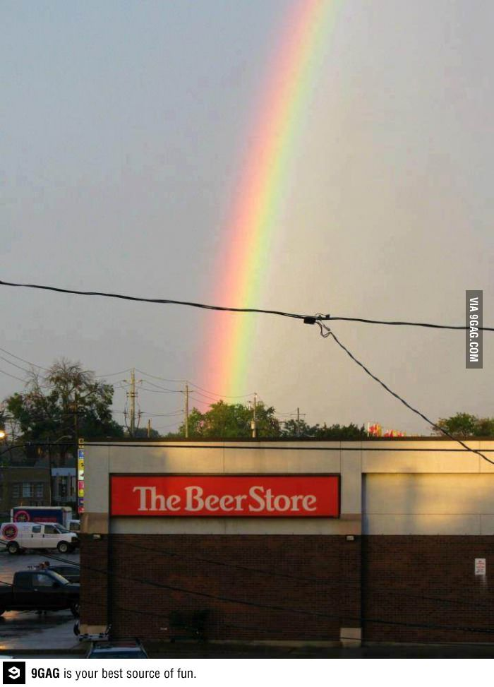 The End Of The Rainbow Mother Nature Wine Humor Funny Pictures