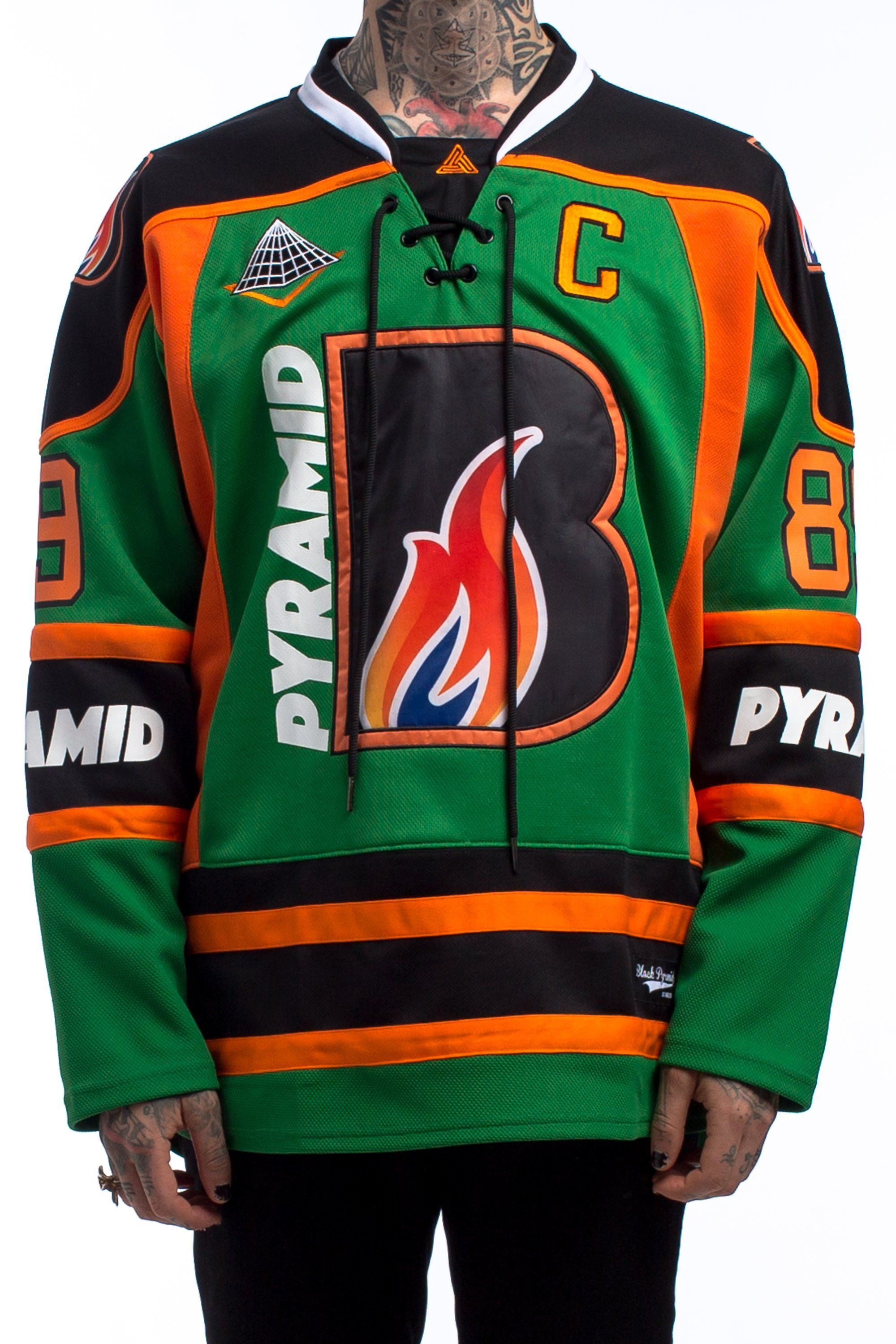 BP Flame Hockey Jersey from Black Pyramid Store | Fashion ...