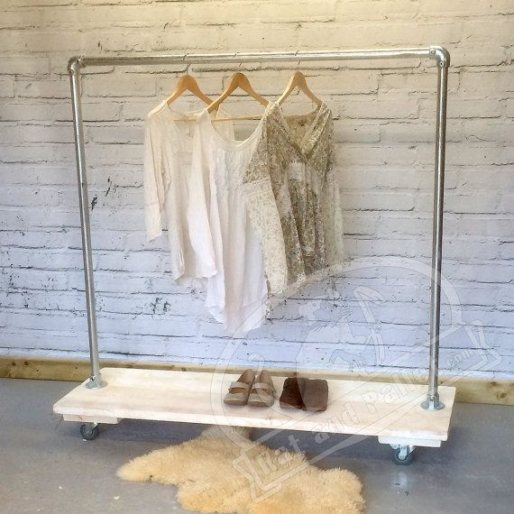 Clothing and Shoe Rack in Industrial Style by RatAndPallet on Etsy