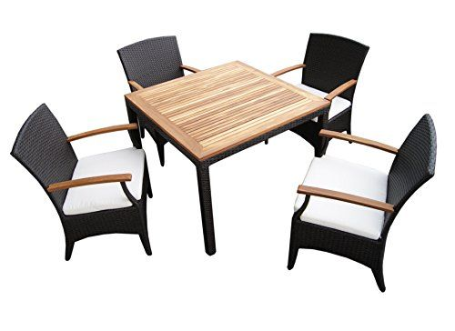 rattan garden furniture garden 4p table set with 4 chairs made of rh pinterest com