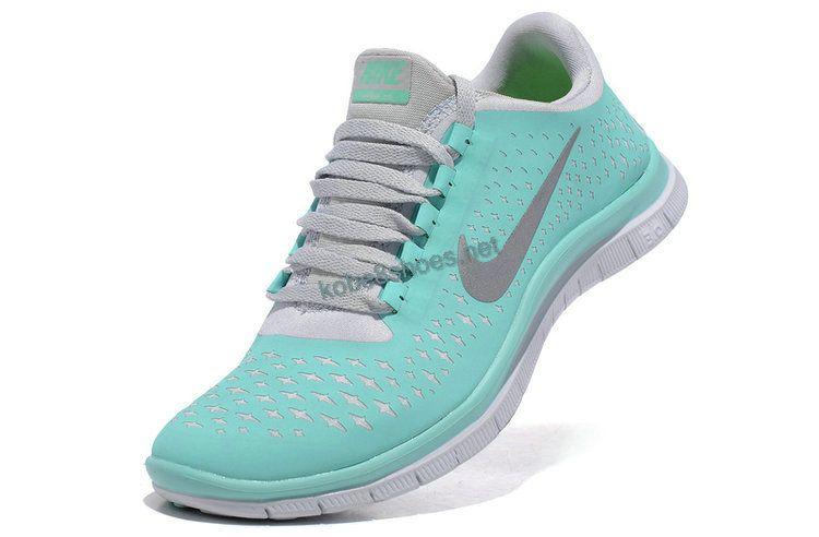 393972d083c7 Tiffany Blue Cheap Nike Free 3.0 V4 Womens Blue White Silver 511495 ...