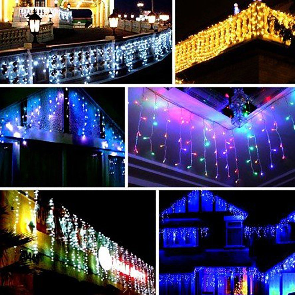 Supergrowing Icicle Lights Sparkling 300 Count Led Christmas 9 8x9 8ft Window