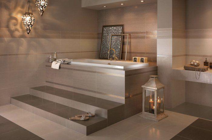 Beaucoup d 39 id es en photos pour une salle de bain beige salle de bain beige faience salle de for Idee salle de bain leroy merlin