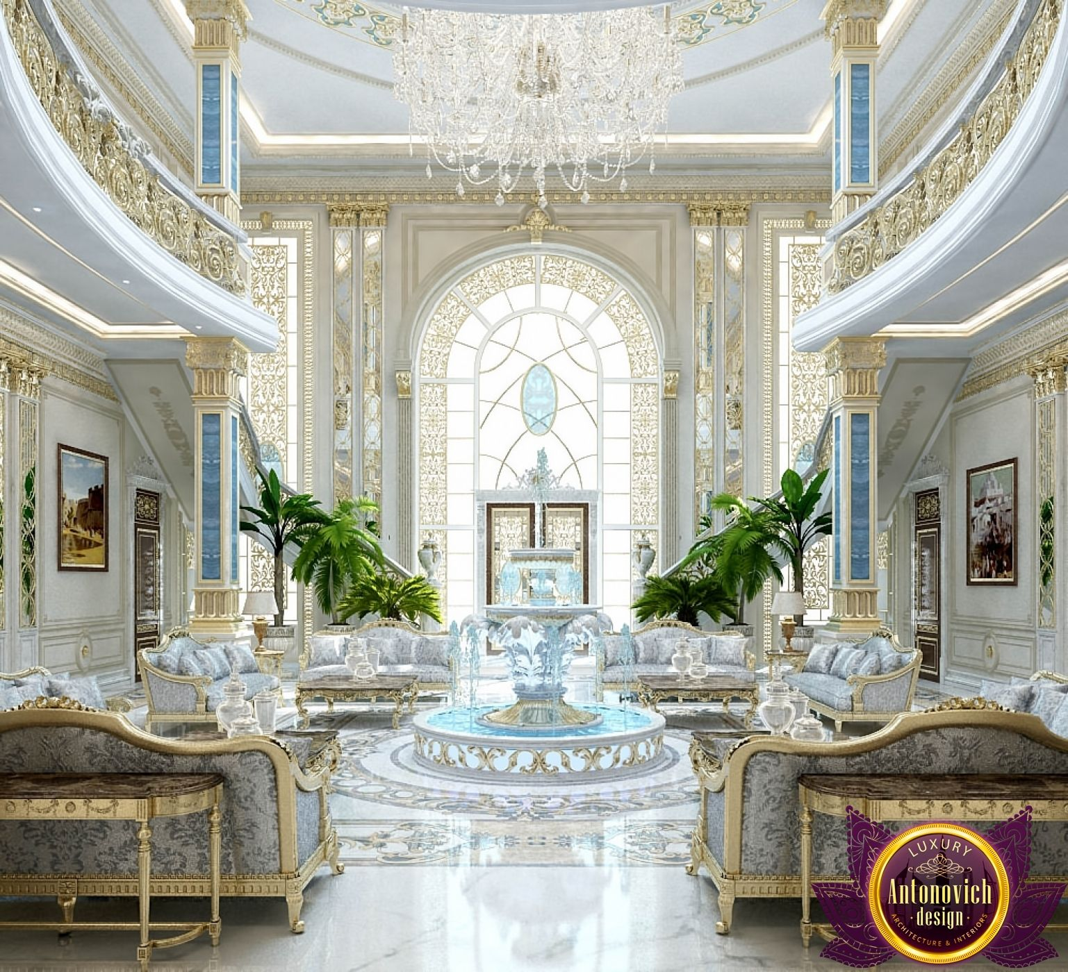 Luxury Living Room Design Ideas With Enticing Decor Inside: Entrance Design In Dubai, Luxury Royal Main Entrance