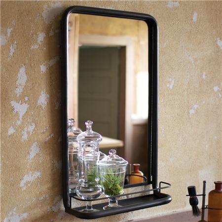 Master Bathrooms Metal Frame Pharmacy Mirror With Shelf