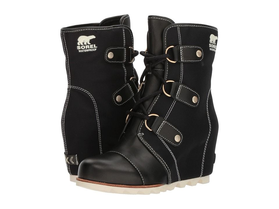 301dfde8e74d SOREL Joan of Arctic Wedge Mid x Celebration Women s Cold Weather Boots  Black Natural