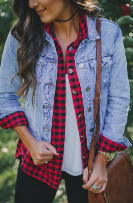 Button Up Denim Jacket With Pockets Fall Fashion In 2018