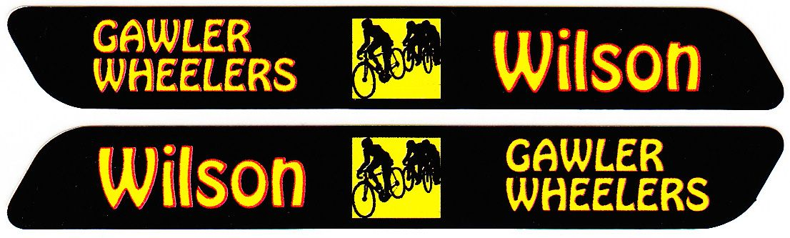 Long Bike Tag With Name Sticker Width90mm Height12mm