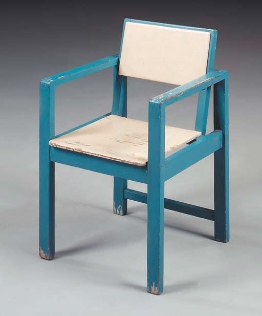 a blue and cream painted child s chair erich dieckmann children s rh pinterest com