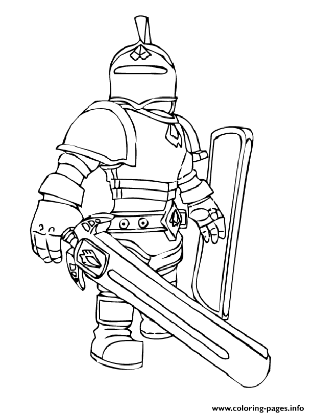 print roblox knight coloring pages - Knight Coloring Pages