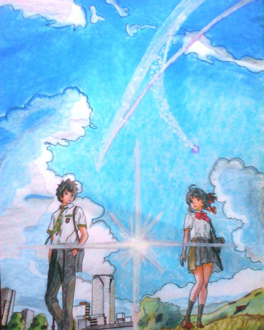 Pin on anime movie your name