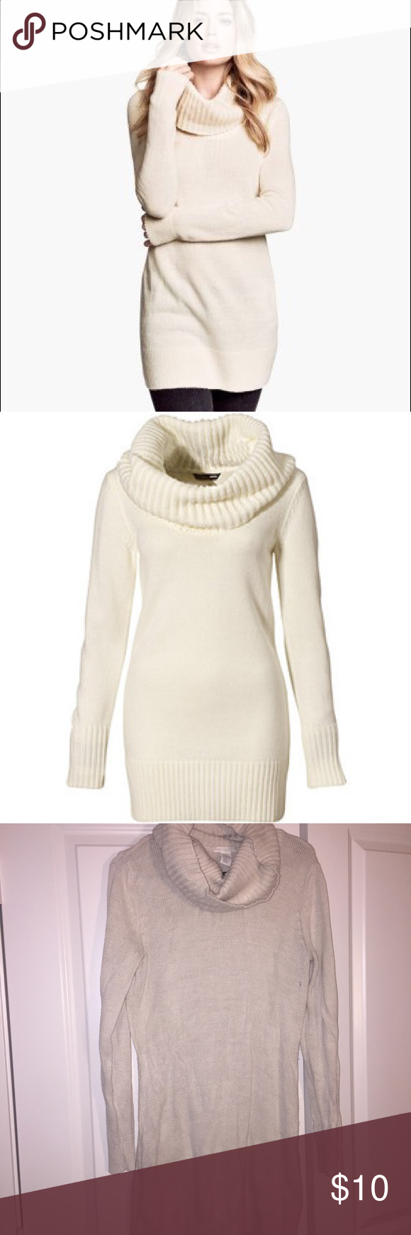 🌻SALE! Like new H&M Cowl neck sweater dress! Like new cream ...