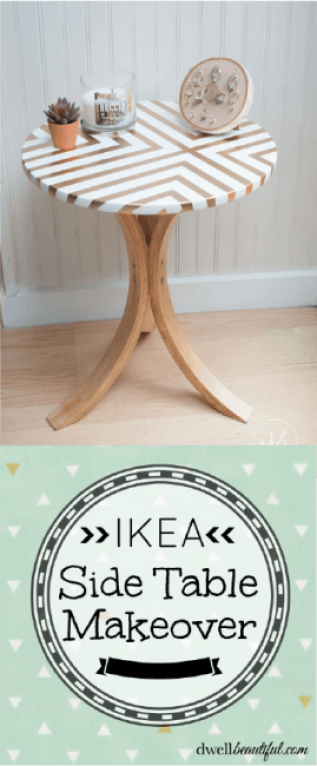 ikea side table makeover diy projects and life savers diy home rh pinterest com