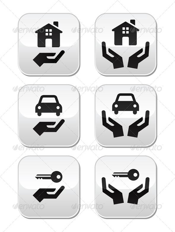 home car keys with hands buttons set fonts logos icons rh pinterest co uk