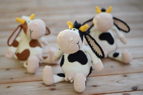 Die Kleine Bunte Kuh Mit Den Tollen Hörnern Möchte Bitte Gleich Von