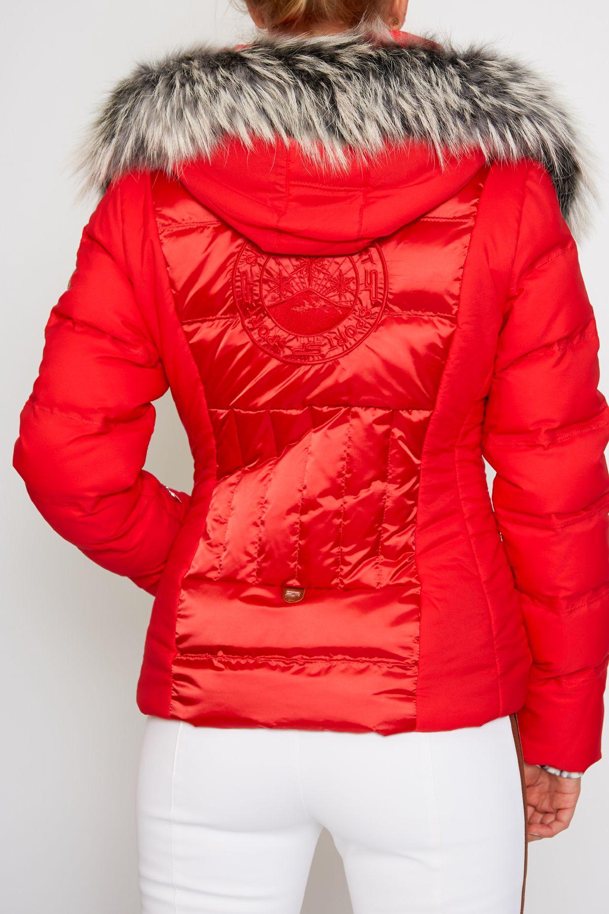 Sportalm Damen Oxalis Ice Jacke mit Kapuze und Pelz  </p> </div> <div class=