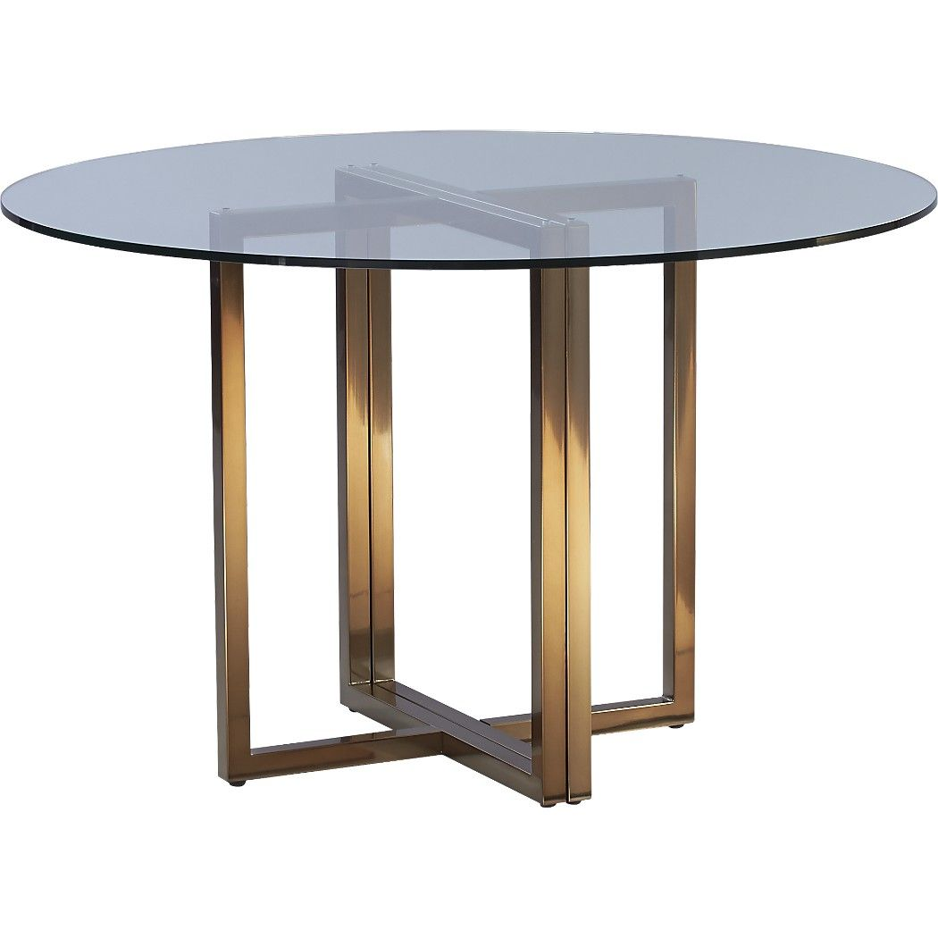 silverado brass 47 round dining table apartment round dining rh pinterest ca