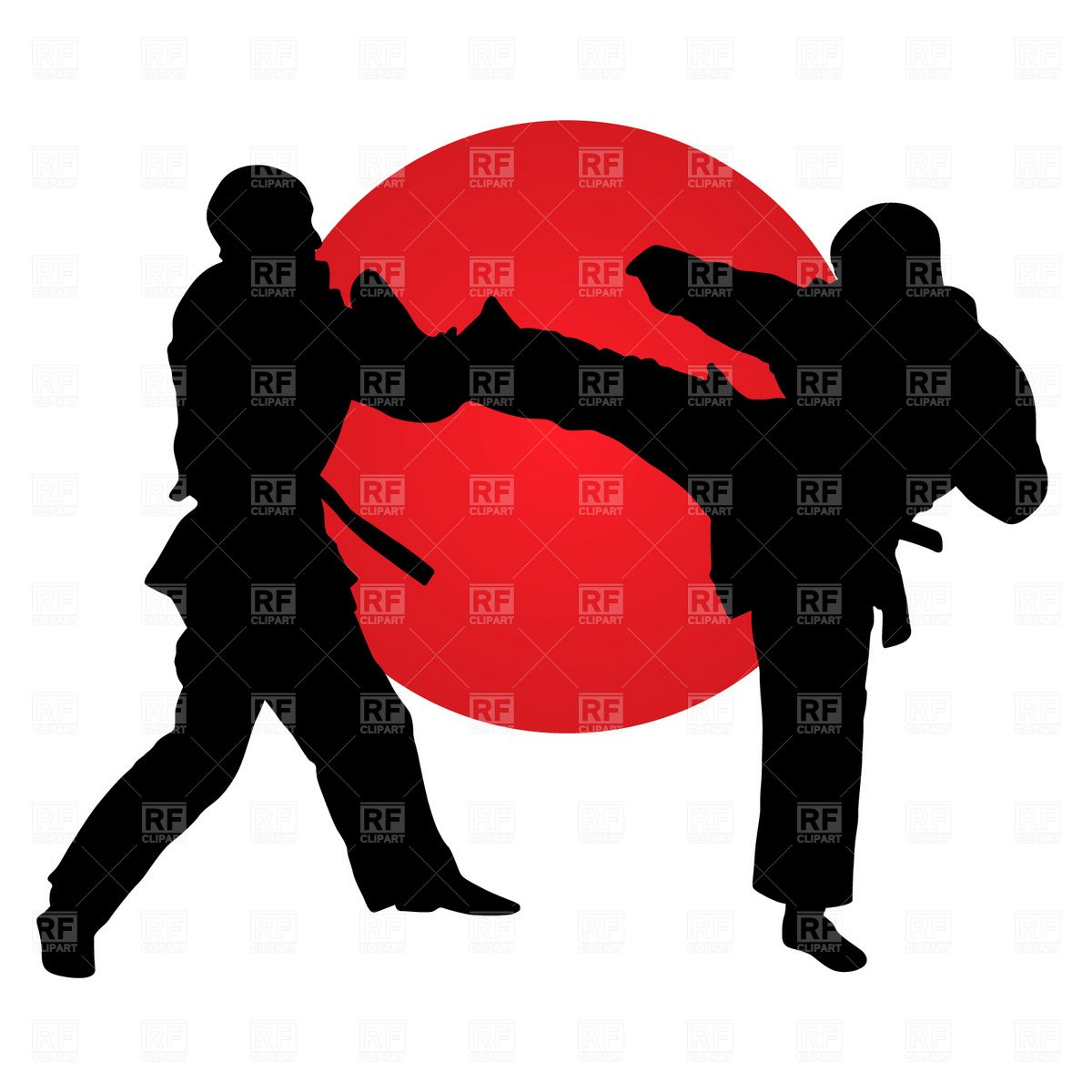Karate Fighters Vector Image Vector Artwork Of Sport And