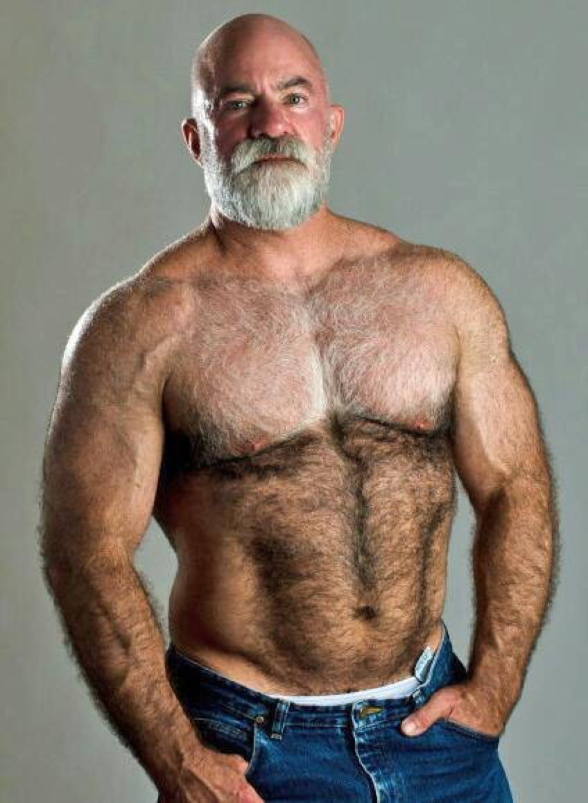 Hairy Chest Sexy Muscle Mature Men Foto