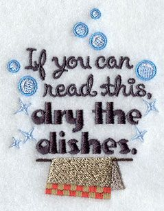 dry the dishes 4x4 machine embroidery designs pinterest towel rh pinterest com