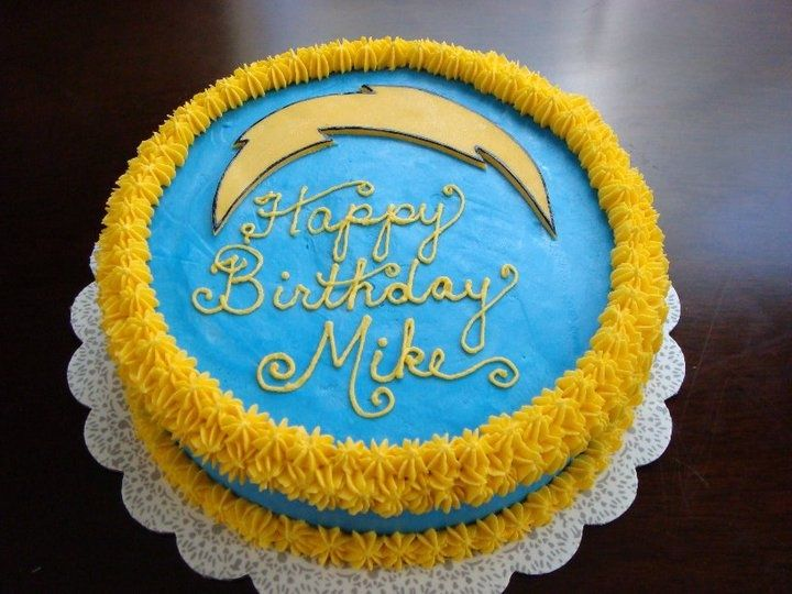 San Diego Chargers cake San Diego Chargers party Diegos baby