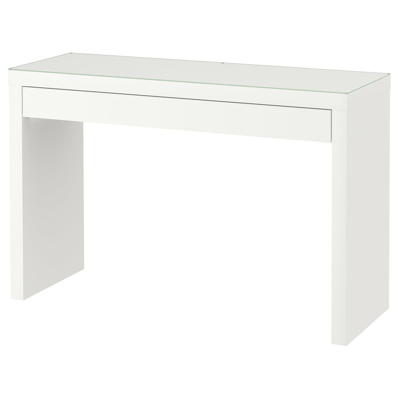 MALM Dressing table - white 120x41 cm
