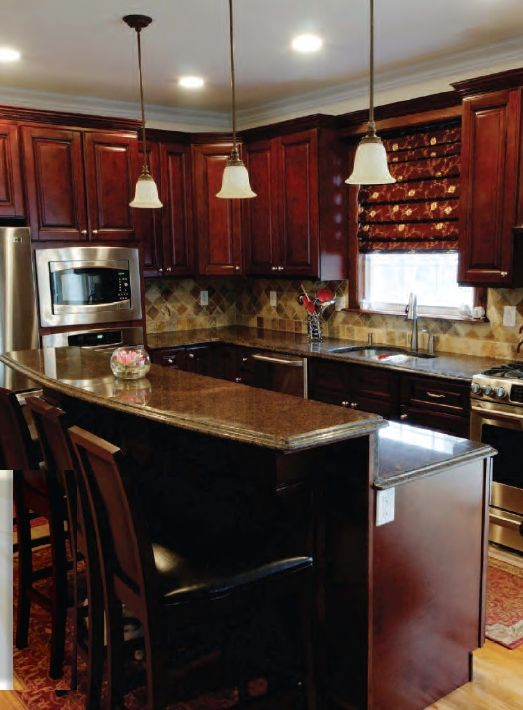 remodeled kitchen with mahagony cabinets kitchen cabinets kitchen rh pinterest com