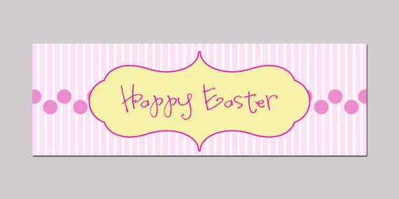 Easter Treat Bag Topper by cindyhamiltondesign on Etsy, $5.00