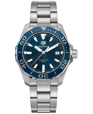 4849fb685d02b TAG Heuer Men s Swiss Aquaracer Stainless Steel Bracelet Watch 41mm  WAY111C.BA0928 - Watches - Jewelry   Watches - Macy s