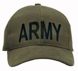 New US Army Logo Olive Drab Brushed Cotton Twill Cap w Embroidered Army Logo   5f8557bf2a