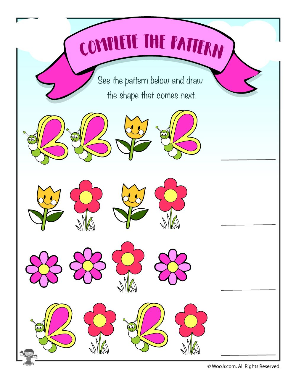 Flowers and Butterflies Spring Pattern Recognition (With