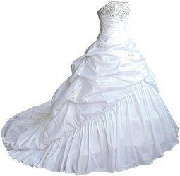 faironly m045 liebsten taft hochzeitskleid brautkleider xxl weiß  günstige hochzeitskleider
