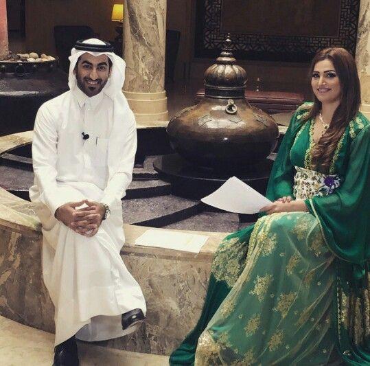 Sura al ali wear moroccan caftan by casamoda during présentation qatar cinéma festivaĺ