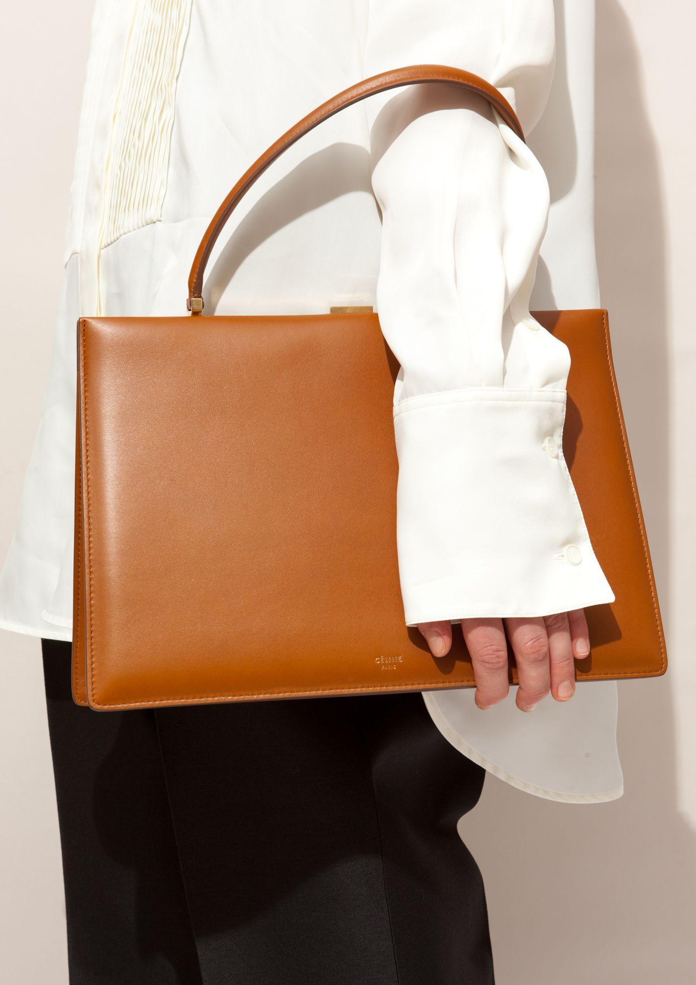 2a99bf60d2 Céline tan medium clasp bag