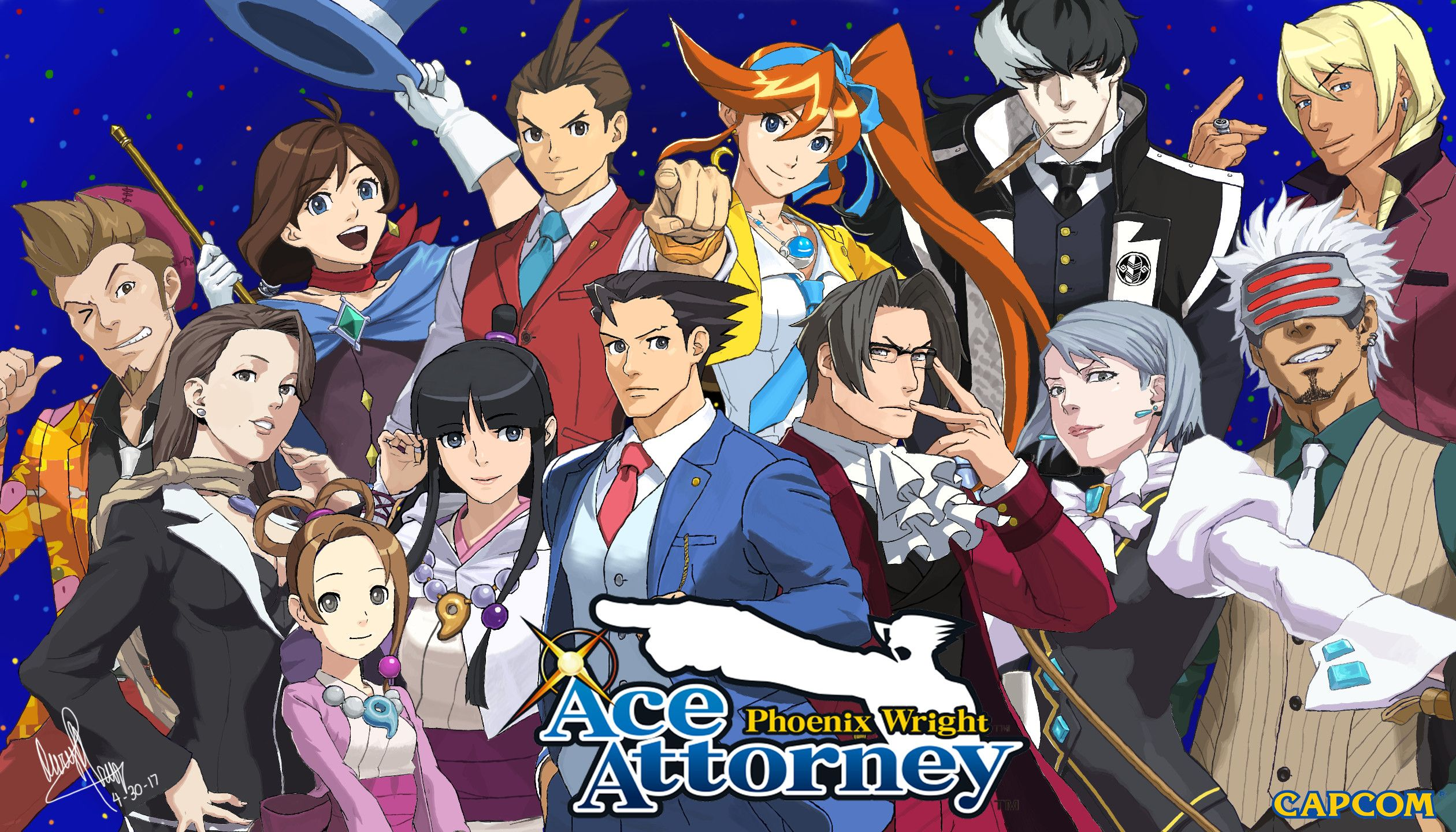 76 Ace Attorney Wallpapers On Wallpaperplay Character Wallpaper
