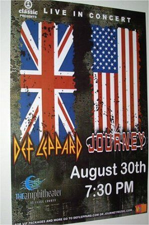 Def Leppard and Journey Concert Poster     Rock of Ages