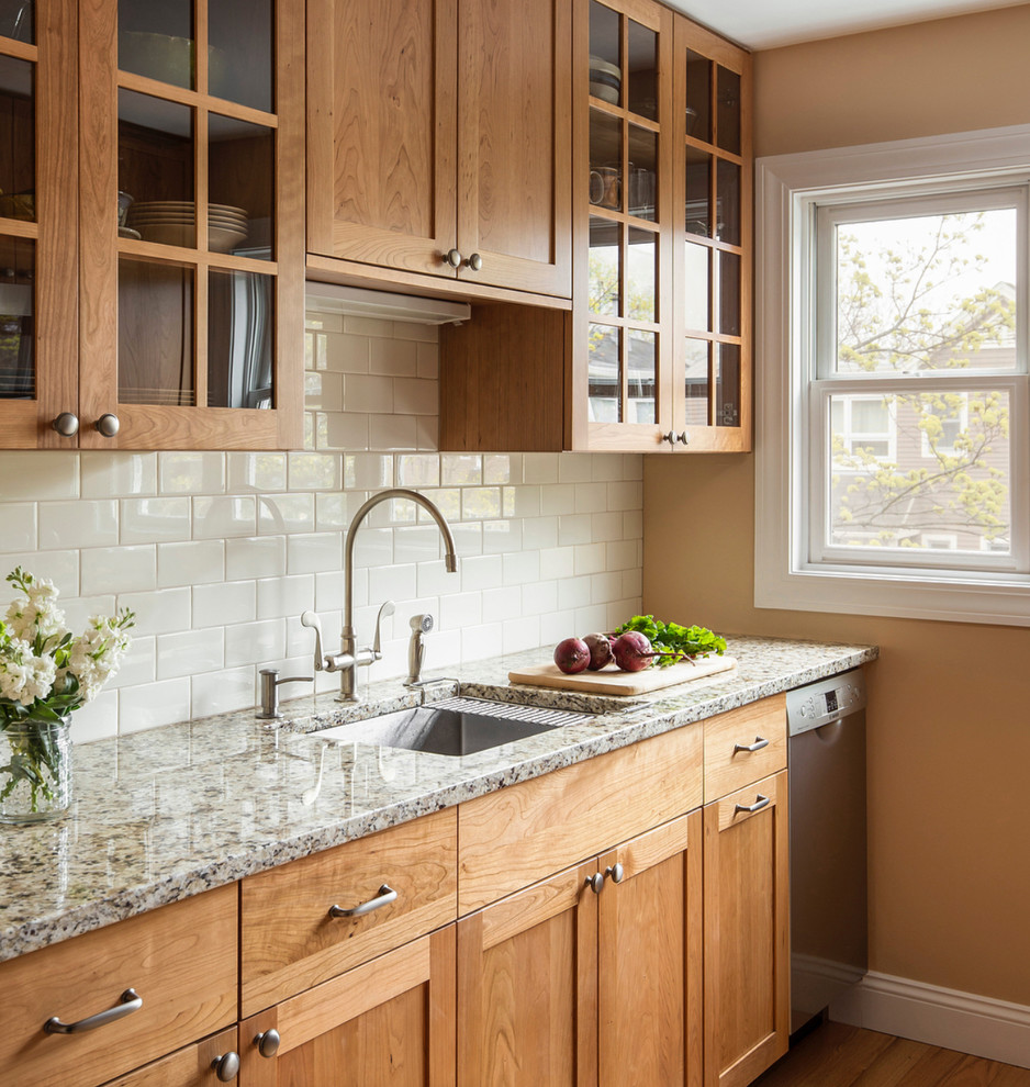 Natural Cherry Kitchen Farmhouse Kitchen Other By Woodland Cabinetry In 2020 Stained Kitchen Cabinets Hickory Kitchen Cabinets Kitchen Cabinets And Countertops